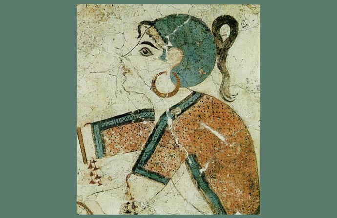 La raccoglitrice di zafferano- Santorini